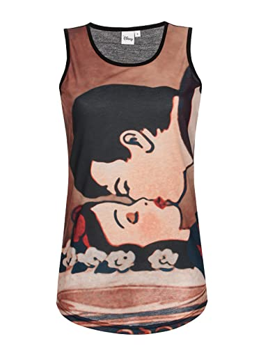 Walt Disney Schneewittchen - Kiss Top Mujer Negro XL
