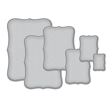 nestabilites  : Spellbinders S5-019 Nestabilities Labels Eight Etched ...