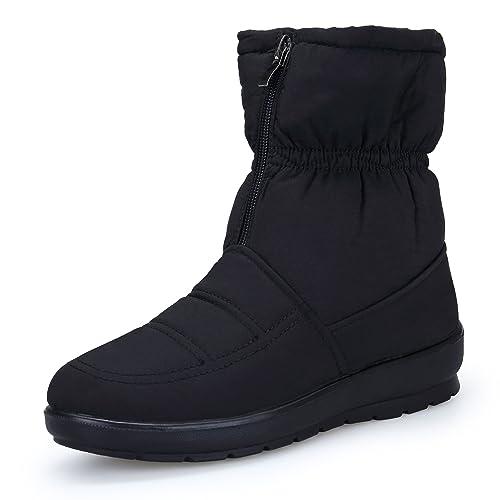 miglior sito web d501e fcbef KOUDYEN Donna Scarpe Stivali da Neve Inverno Stivaletti Pelliccia Snow  Boots Stivali Cerniera Moda
