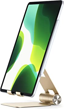 Samsung S10 Plus//S10 Compatible with 2019 iPad//2018 iPad Pro Satechi R1 Aluminum Multi-Angle Foldable Tablet Stand Xs Max//XS//XR//X 8 Plus//8 iPhone 11 Pro Max//11 Pro