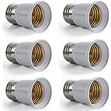 AWE-LIGHT 6X E27 a E27 Adattatore Prolunga Estendere Base LED CFL lampadina della lampada convertitore Vite Presa