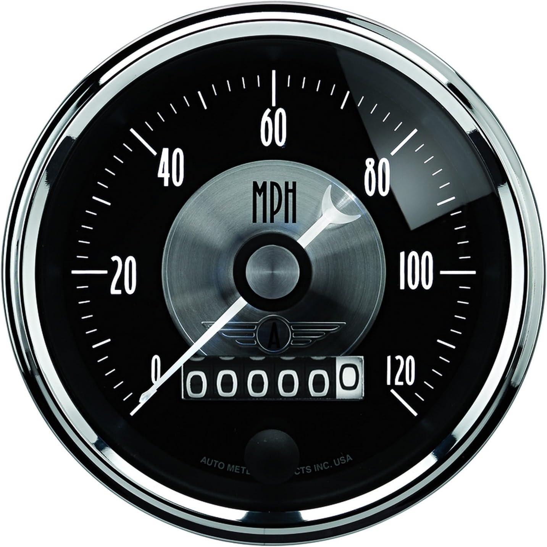 Auto Meter 2088 Prestige Black 3-3//8 0-120 mph Programmable Wheel Speedometer Gauge