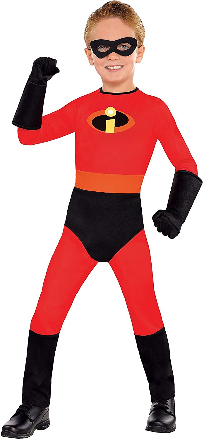 Amscan The Incredibles Dash Halloween Costume for Toddler Boys, Disney, 2T, Includes Mask and Gloves