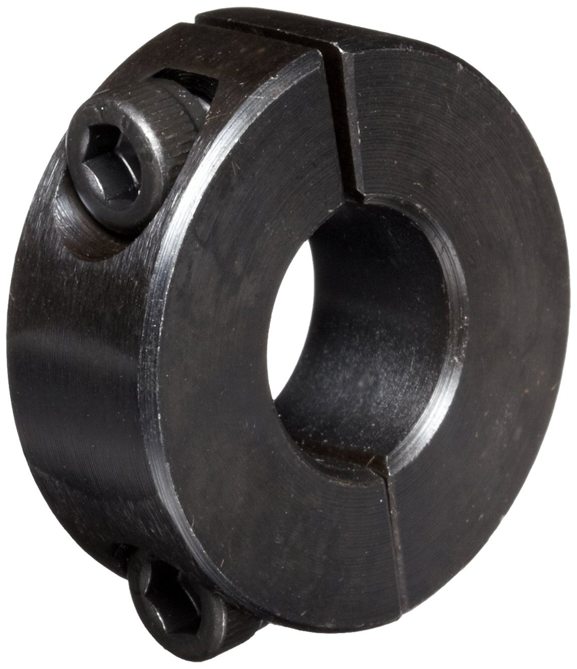 Black Oxide Plating Climax Metal 2C-050 Steel Two-Piece Clamping Collar 1-1//8 OD 1//2 Bore Size With 8-32 x 1//2 Set Screw