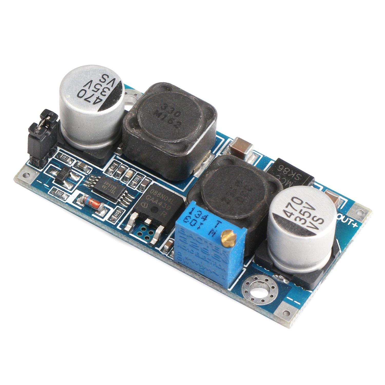 Drok 25w 3a Adjustable Dc Converter Automatic Boost To 5v 30v Buck Volt Regulator 3 15v 05 30v12v Step Up Down Power Supply Module Board For
