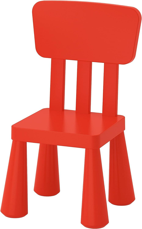 Ikea Mammut - Silla infantil para interiores y exteriores, color rojo, 1 unidad