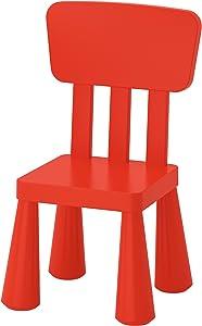 Ikea Mammut Kids Indoor/Outdoor Children's Chair, Red Color - 1 Pack