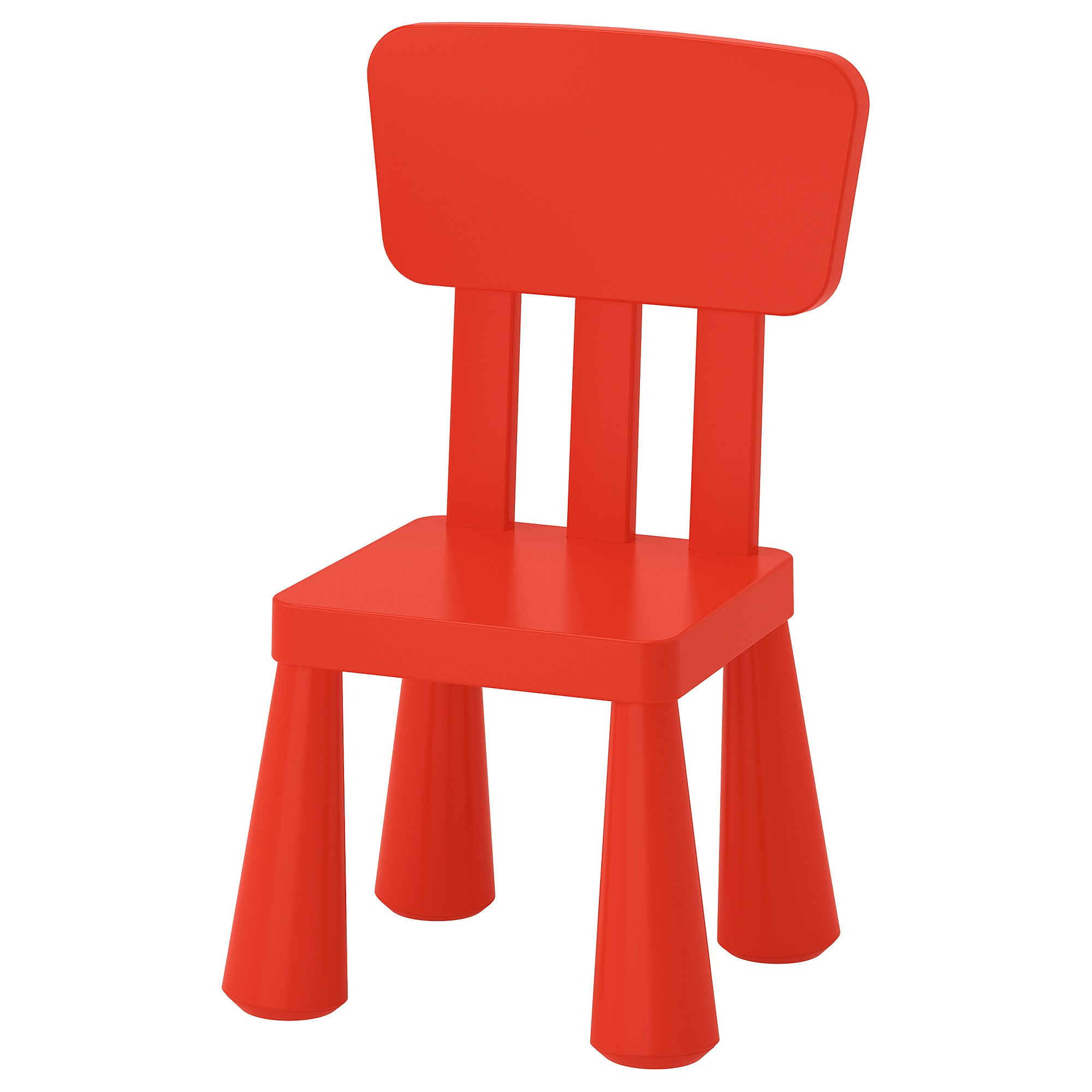 Ikea Mammut Kids Indoor / Outdoor Children's Chair, Red Color - 1 Pack