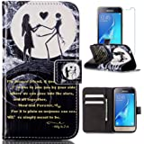 Galaxy Luna Case, Galaxy Amp 2 Case, J1 2016 Case, FirstCover Wallet Folio PU Leather Flip Case Cover with Card Holder for Samsung Galaxy Luna / Amp 2 / Express 3/ J1 2016 (Black Love)