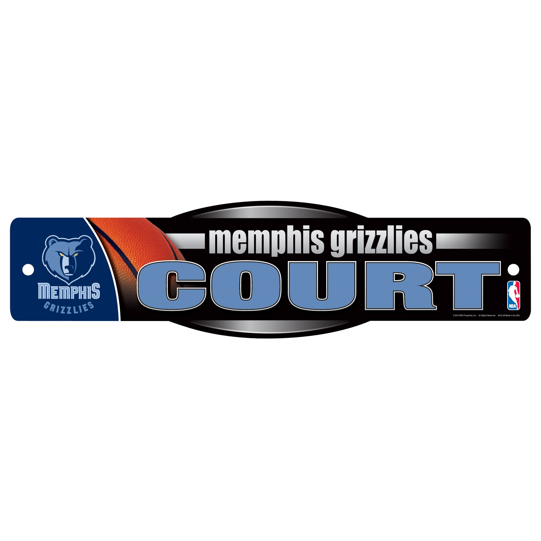 WinCraft NBA Memphis Grizzlies Sign, 4.5 x 17-Inch by WinCraft