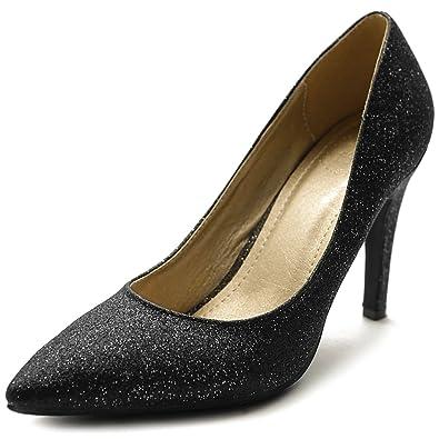 9493afab35ad Ollio Women s Glitter Shoe High Heel Multi Color Pump M9007(6 B(M)