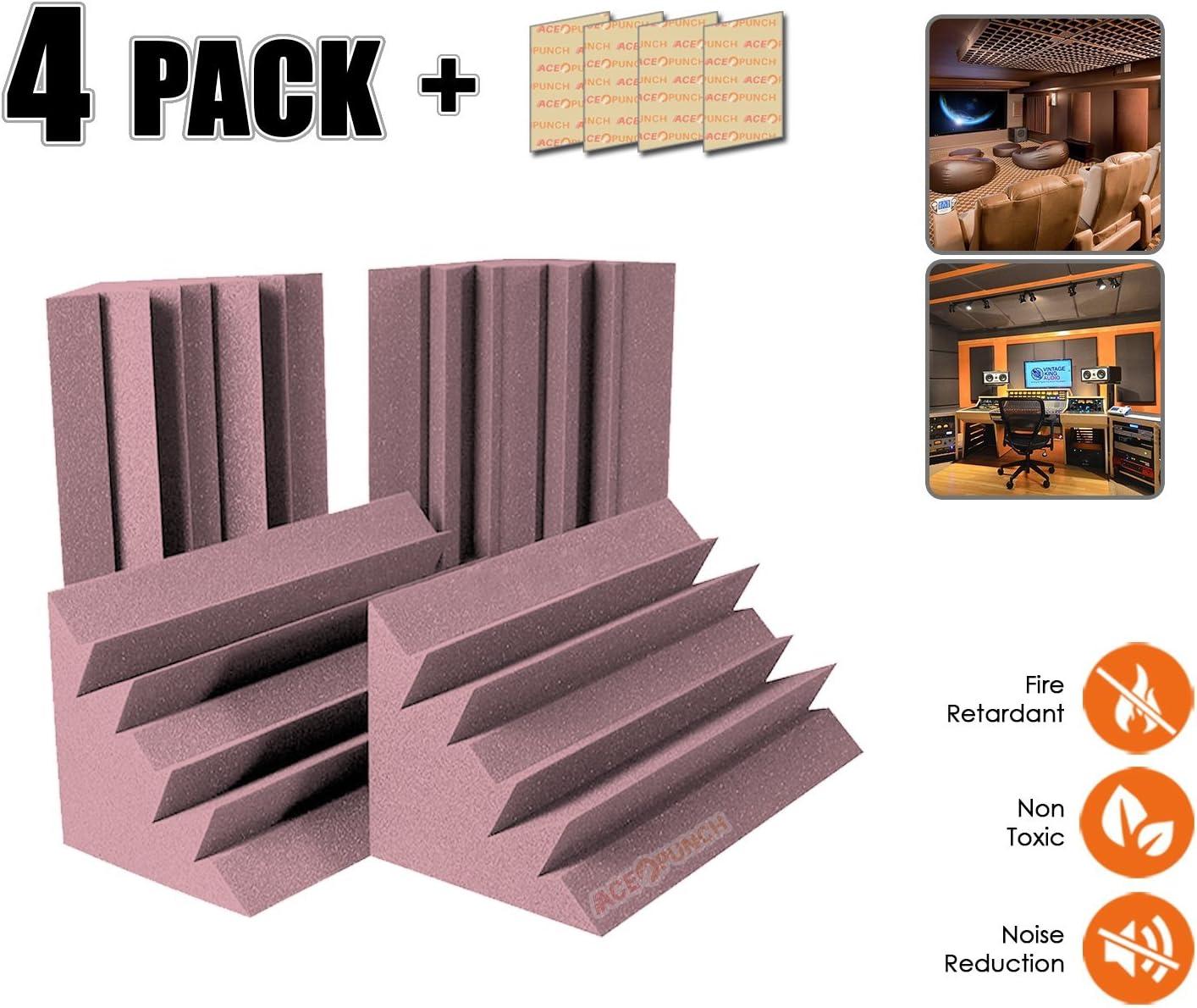 Acepunch 8 pieces BLACK Long Corner Block Bass Trap Acoustic Absorption Foam 7.5 x 7.5 x 60 cm AP1160