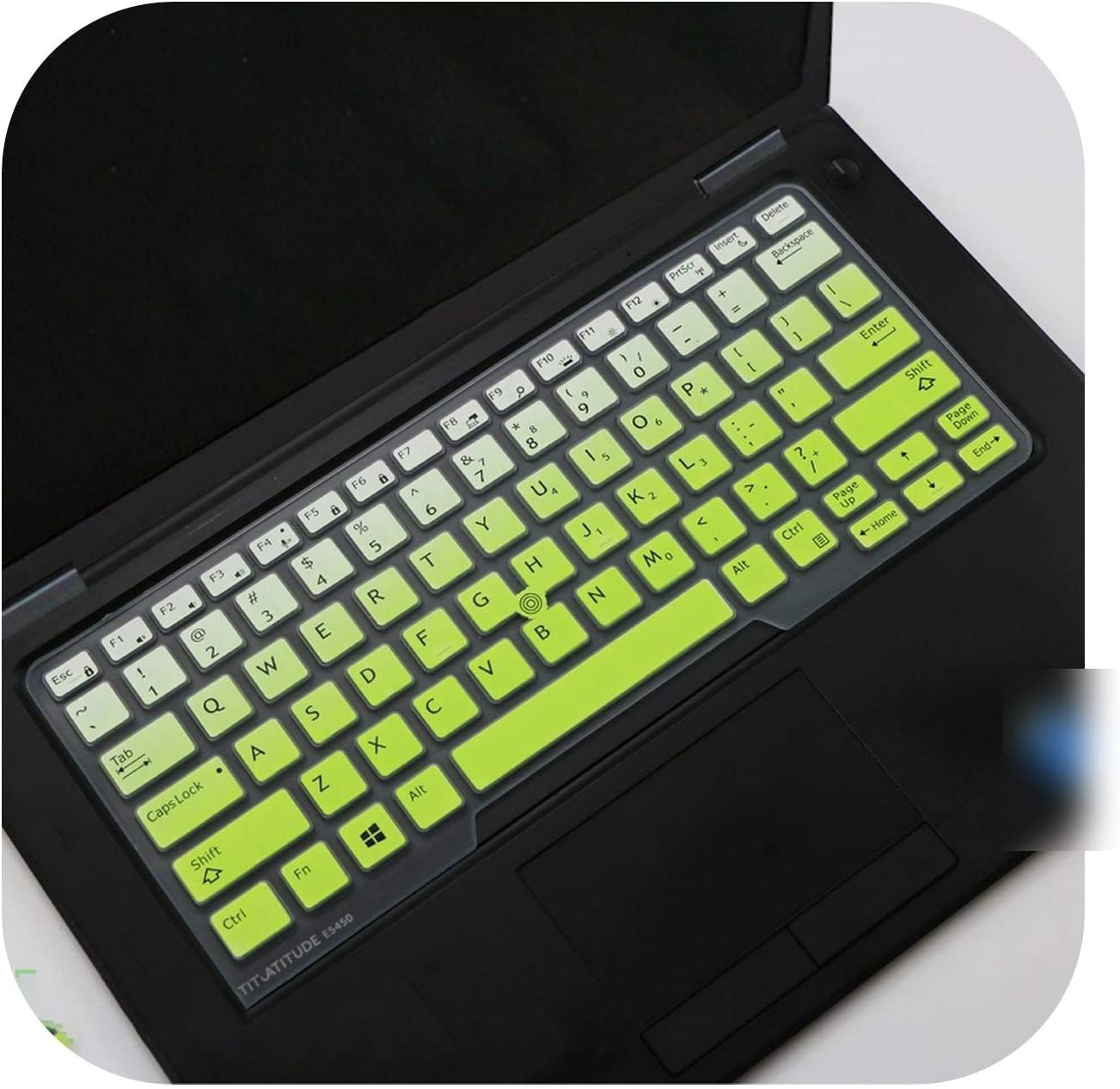 Silicone Laptop Keyboard Cover Skin for Dell Latitude E5250 E 5270 E 7250 E 7270 E5280 E7275 E 7280 E7370 Xps 12 9250 12.5-White