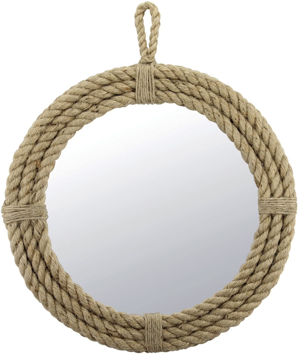 Small Round Wrapped Rope Mirror