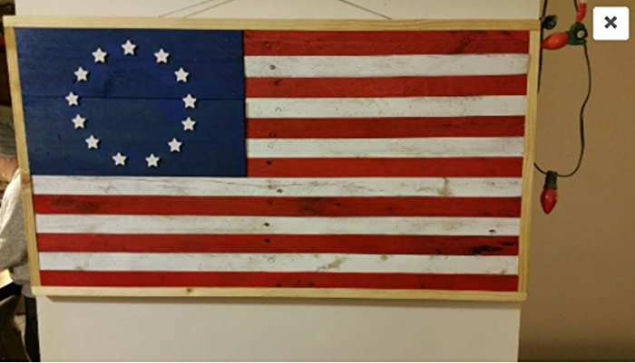 Pallet Wood American Flag With 13 Stars Large Rustic Man Cave