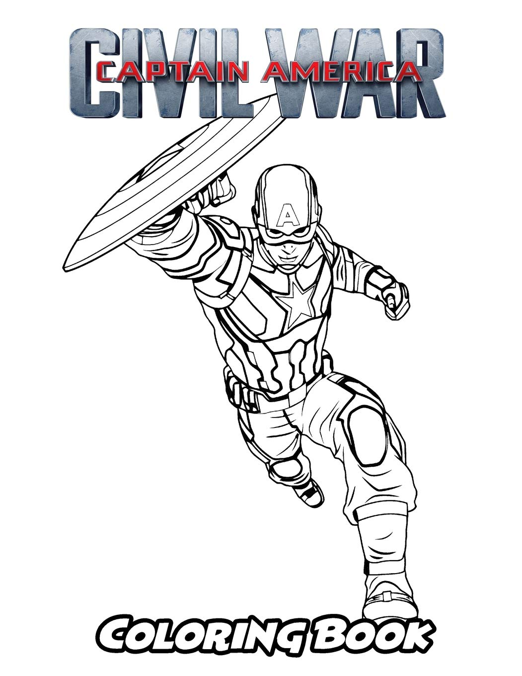 Amazon Com Captain America Civil War Coloring Book