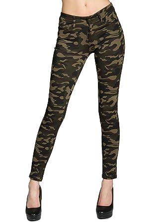 CASPAR HLE025 Damen Super Stretch Camouflage Army Hose Jeggings  Amazon.de   Bekleidung 70f782fed3