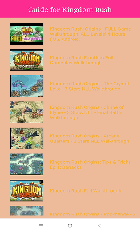 Amazon com: Guide For Kingdom Rush Origins: Appstore for Android