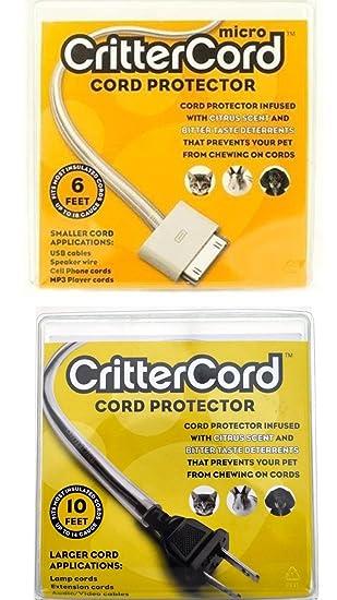 CritterCord doble arranque protector de cable del paquete de cable de cítricos para conejos gatos perros mascotas