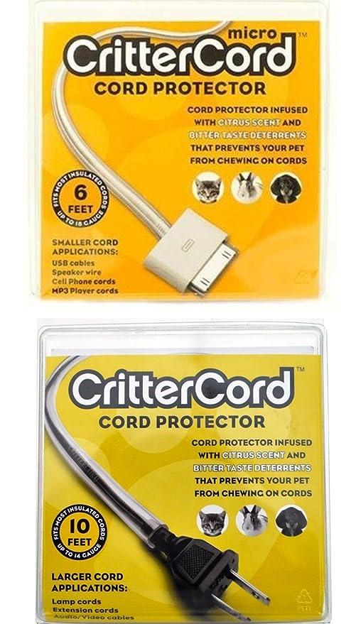 CritterCord doble arranque protector de cable del paquete de cable de cítricos para conejos gatos perros