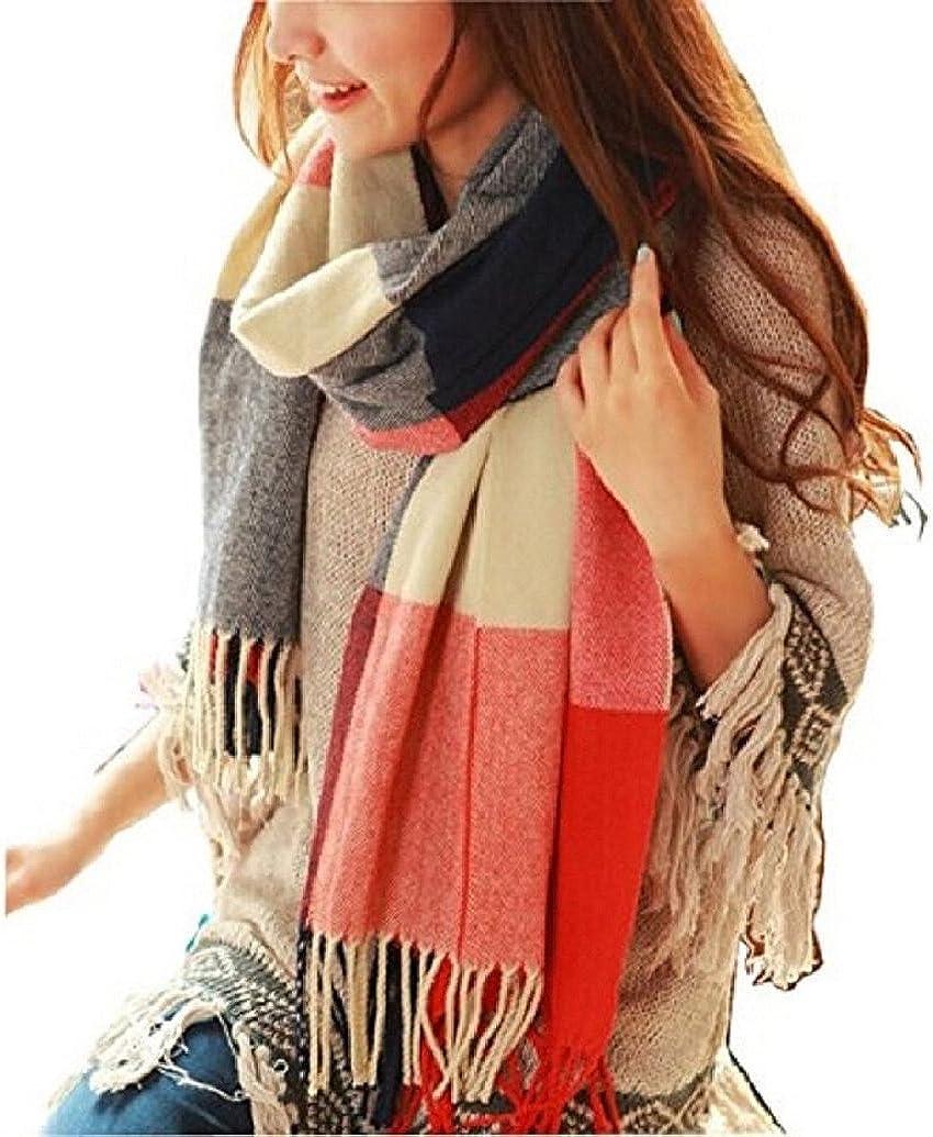 heekpek Mujeres caliente Mantas Cozy Pashmina bufanda larga tartán enrejado mantón