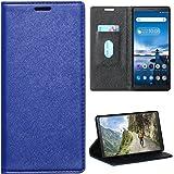 Zaoma Diary Type Pu Leather Flip Case Cover for Lenovo Tab V7 Model Number: ZA4L0020IN / ZA4L0052IN - (Executive Blue)