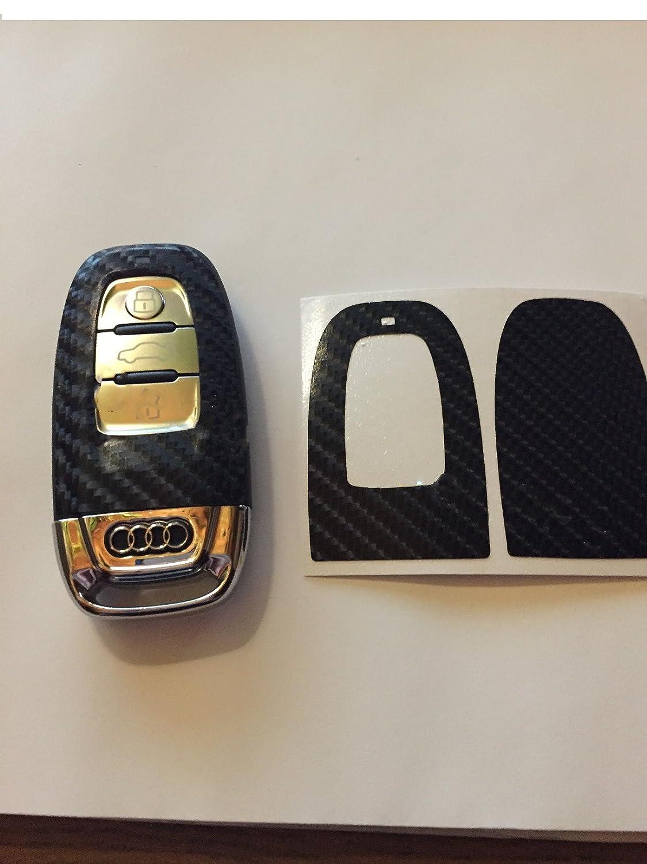Dekor Schwarz Glanz 4D Schl/üssel Key Audi A3 Q7 Q3 8P 8K S4 A5 8T A6 RS4 4F 4G A8 Q5 S5 RS A3 A1 A2 A7 A8 RSQ5 SQ5 Carbon Folie