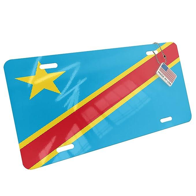 Metal de la matrícula República Democrática del Congo Bandera - Neonblond: Amazon.es: Ropa y accesorios