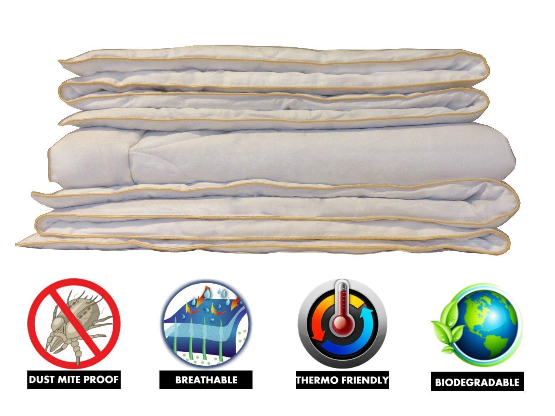 Organic Comfort Market 100% Natural All Season Camel Wool Comforter. Woolmark & Oeko Certified. Size: Crib/Toddler, 46x58 46x58