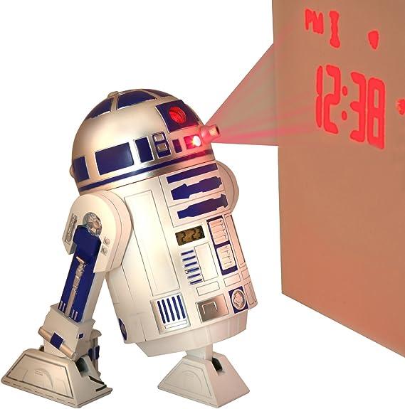 Star Wars Despertador con proyector de Hora Chopper STAR3: Amazon ...
