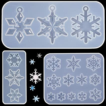 Christmas Snowflake Silicone Pendant Mold DIY Making Jewelry Resin Casting Molds
