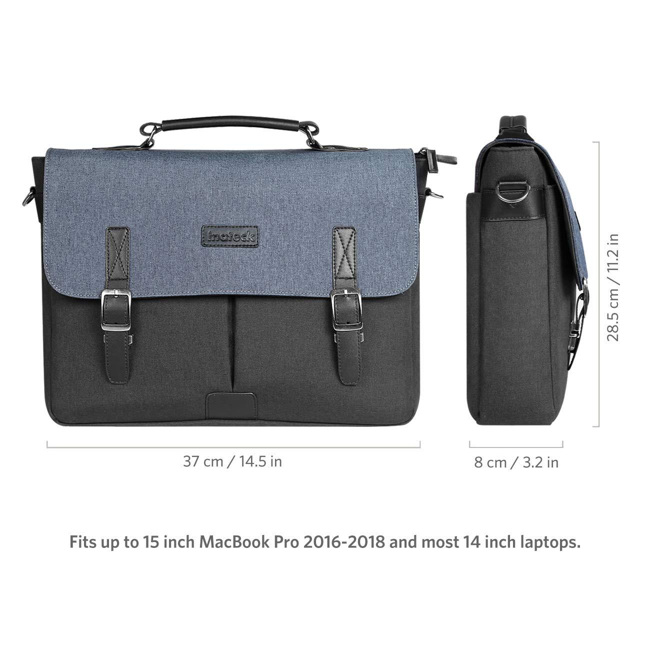 Inateck Bolsa Bandolera Funda Estilo Casual para 2016//2017//2018 MacBook Pro 15 Trabajo y Tiempo Libre Bolsa Simple y Elegante para Escuela A1707//A1990 y port/átiles Laptop de 14-14,1 Impermeable