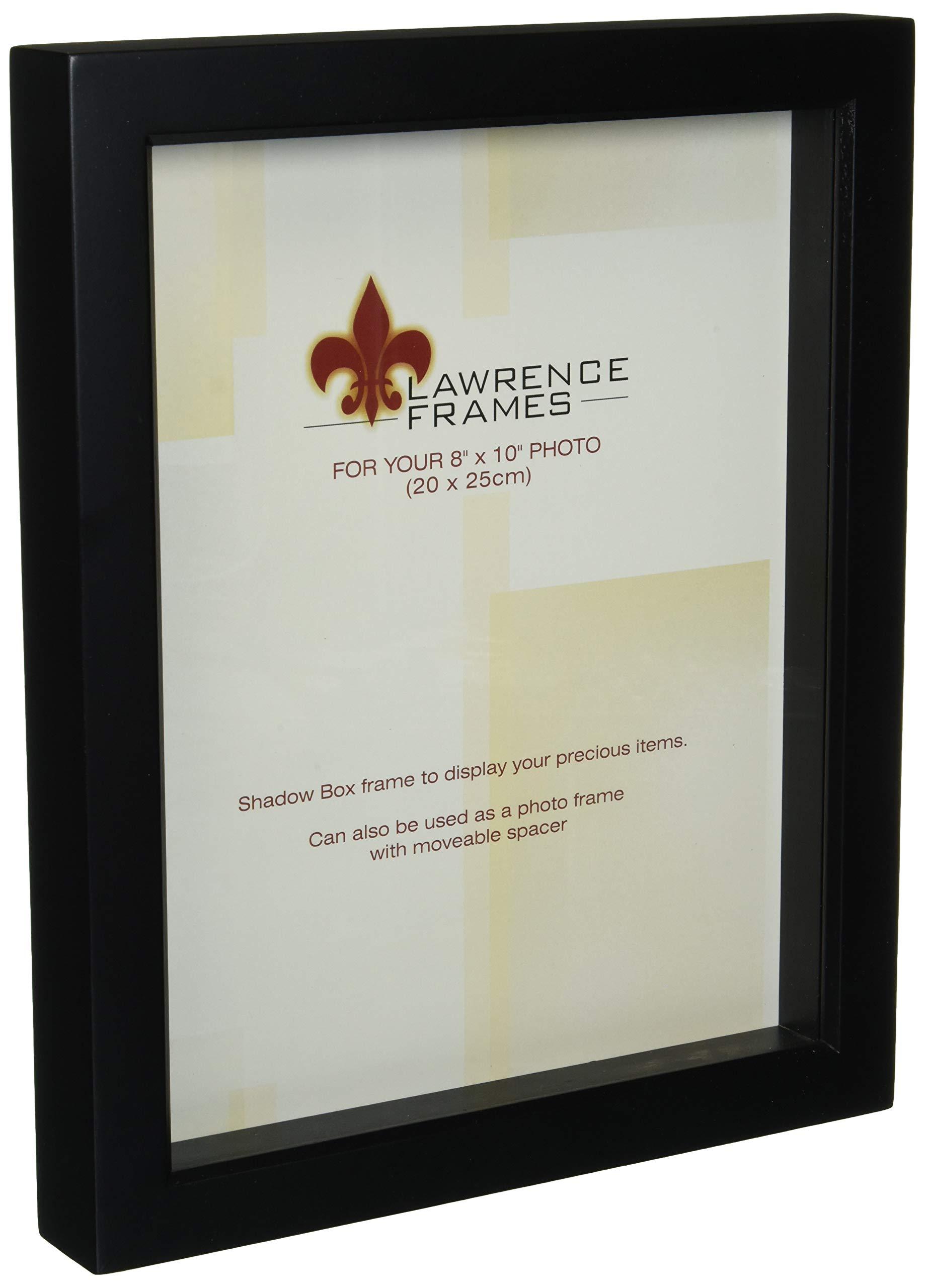 Lawrence Frames 795080 Black Wood Treasure Box Shadow Box Picture Frame, 8 by 10-Inch by Lawrence Frames