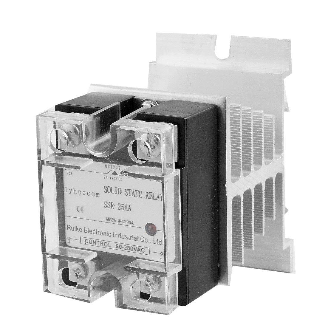 Uxcell 25a Ac Solid State Relay Ssr 90 280v To 24 480v Heat Hayward Goldline Aqualogic Main Printed Circuit Board Glxpcbmain Sink Amazoncom Industrial Scientific