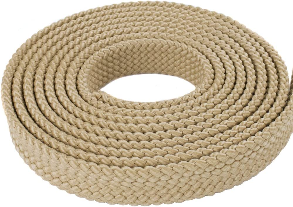 Brown PolyPro Hollow Flat Braid Rope Olive Drab Red Black Tan- Easy to Splice and Seal Hanks White West Coast Paracord 1 Inch MFP Soft Flat Braid