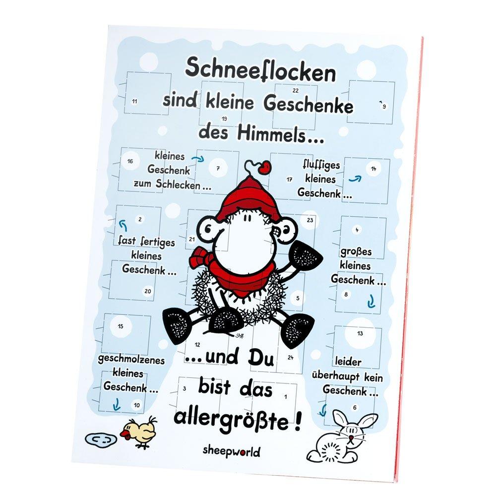 Sheepworld Adventskalender Ohne Dich ist Weihnachten doof, mit Schokolade 61120 ADV15