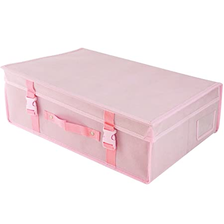13d04abc35a1 HANGERWORLD Medium Pink Wedding Dress Bridal Gown pH Neutral Space Saving  Storage Travel Box with Acid Free Tissue