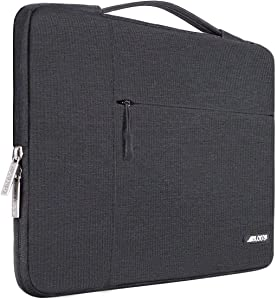 MOSISO Laptop Sleeve Compatible with MacBook Pro 16 inch, 15 15.4 15.6 inch Dell Lenovo HP Asus Acer Samsung Sony Chromebook,Polyester Multifunctional Briefcase Carrying Bag, Space Gray