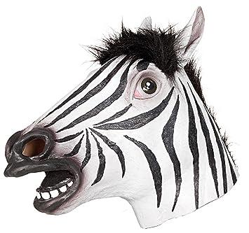 Ciao 21193 – Máscara Zebra de látex, blanco/negro