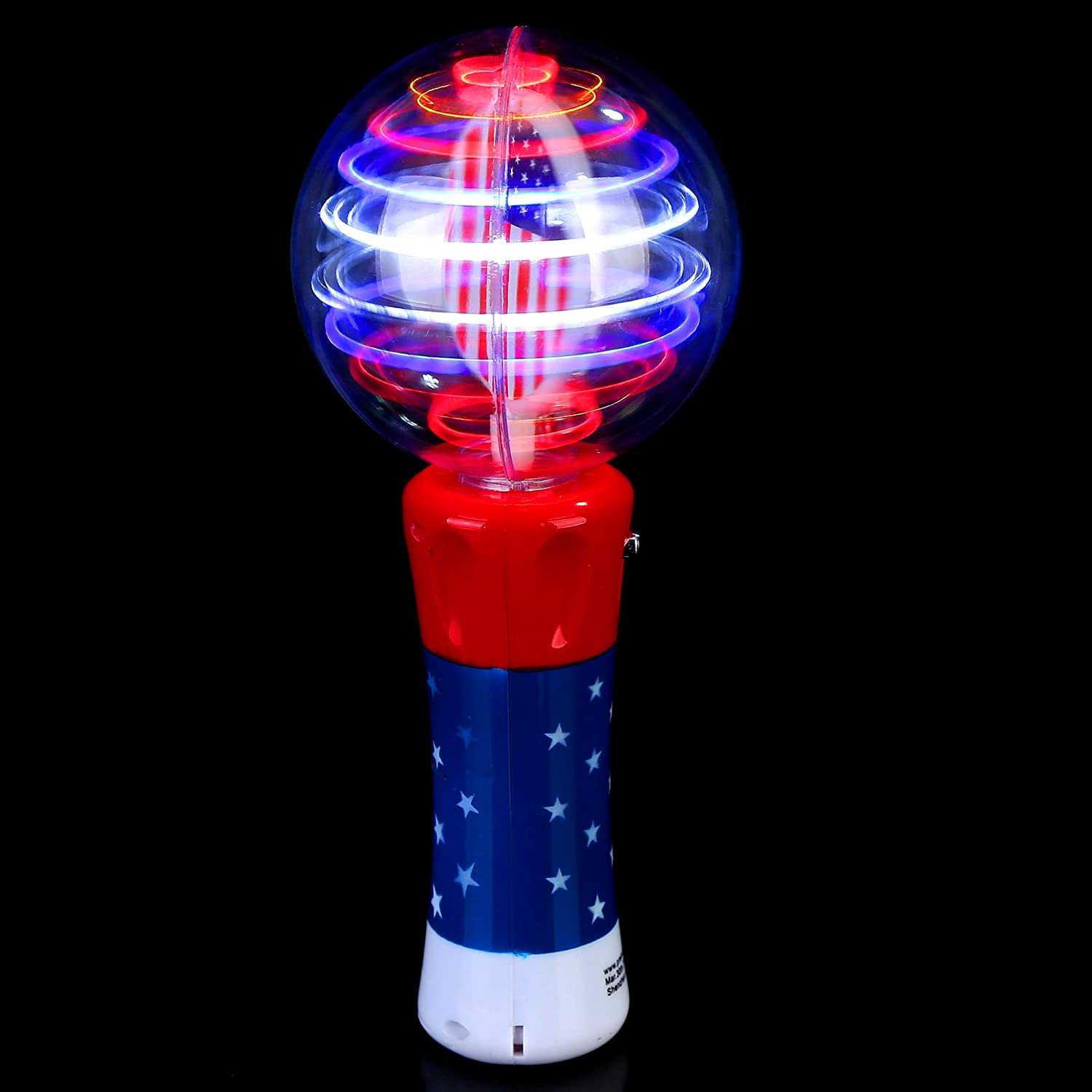Fun Central O561 LED Spinner Wand Red-White-Blue