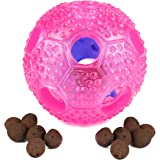 ONSON Dog Toys, Chew Toys IQ Treat Ball Interactive Toys For Small Medium Large Dogs, Durable Food Dispensing Chew Dog Ball, Nontoxic Rubber and Bouncy Dog Ball, Cleans Teeth