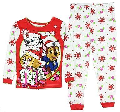 4cff0151f Amazon.com: Paw Patrol Infant & Toddler Boys Candy Cane Christmas Holiday  Pajama Set: Clothing
