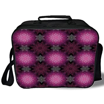 Review Insulated Lunch Bag,Fractal,Radiant Fragmented