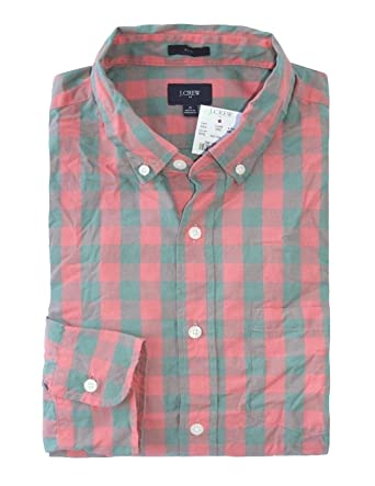 ac397a667230 J Crew Factory - Men s - Slim Fit - Pink Pewter Gray Gingham Washed Cotton