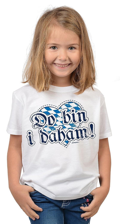 Lustige Bayrische Sprüche Kinder T-Shirt Volksfest: Do bin i daham! -- Mundart bayrischer Dialekt Kindershirt