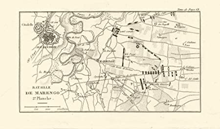 Alessandria Italy Map.Battle Of Marengo 1800 Plate 3 Alessandria Italy 1819 Old