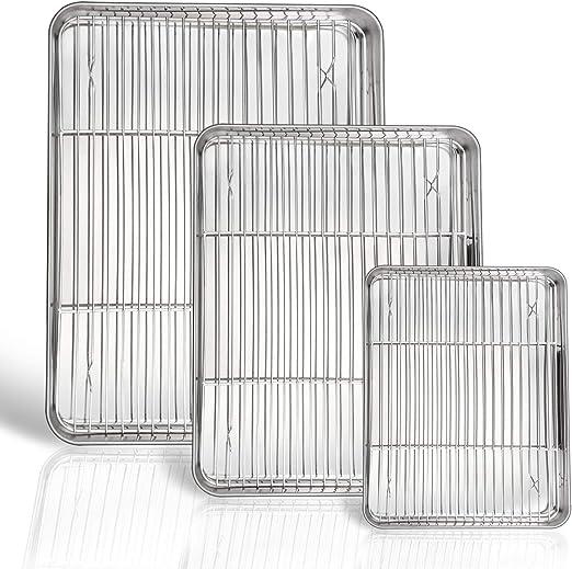 P&P CHEF Juego de sábanas y estanterías para horno, 6 unidades (3 ...