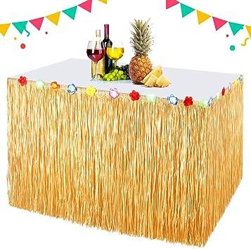 EXTSUD Falda Mesa Hawaiana Decoraciones de Fiesta Falda Mesa ...