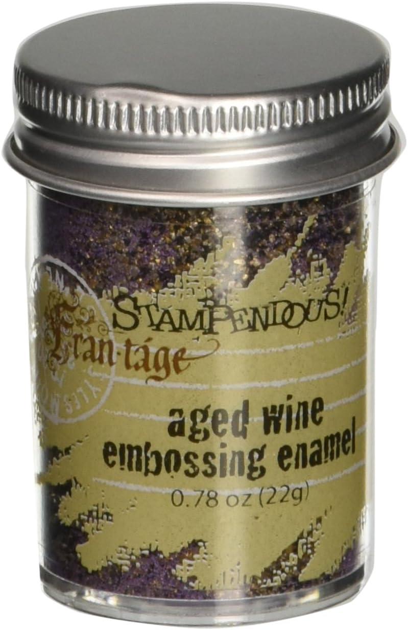 Wein 0,6/oz Aged Pr/ägung Emaille Stampendous