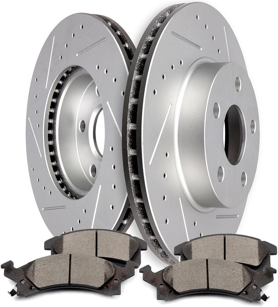 Rotors Ceramic Pads F 1994 1995 1996 1997 Buick Skylark OE Replacement